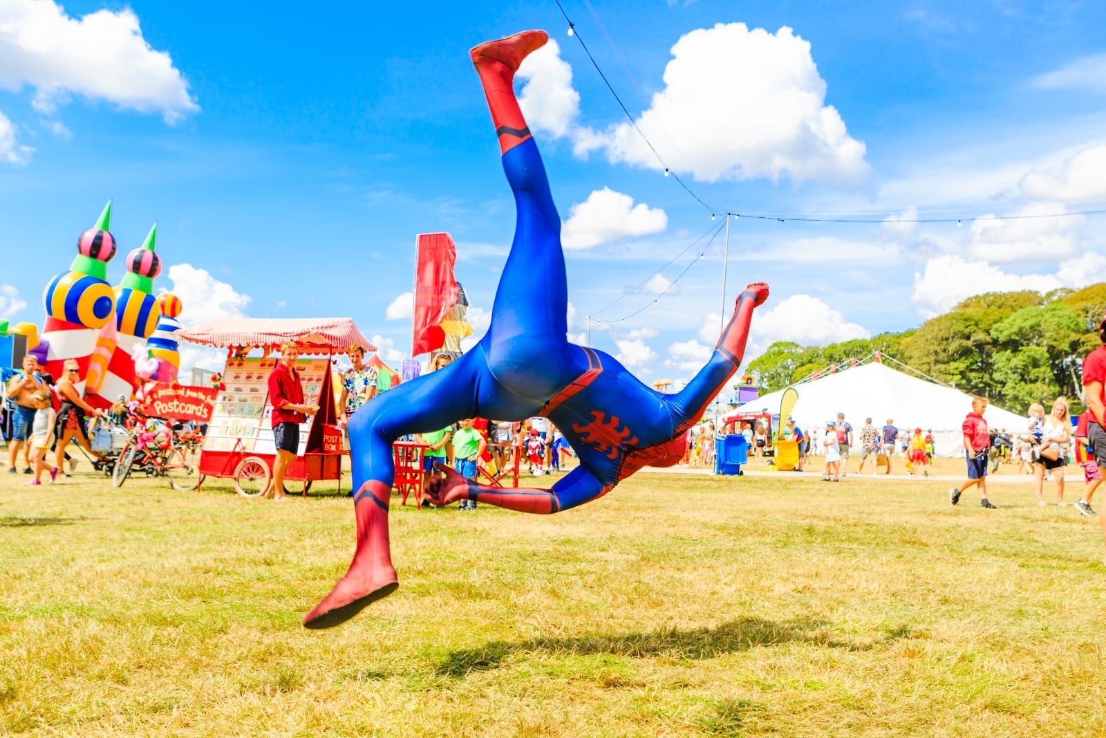 Spiderman Camp Bestival ©Leora Bermeister